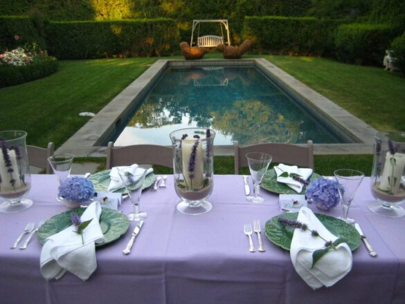 Tablesetting Lavender/Green - Bee Cottage