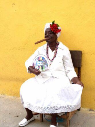 Cuban lady with cigar