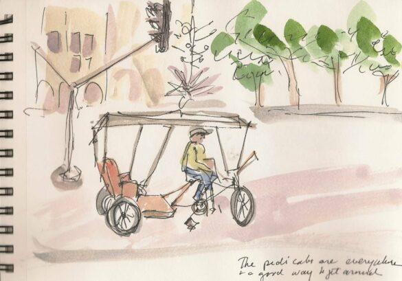 Sketch-Havana pedi-cab