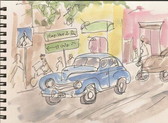 Sketch-Havana, old car