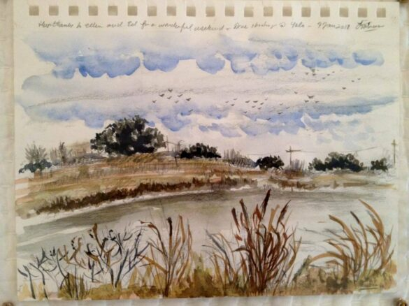 Watercolor of Pond