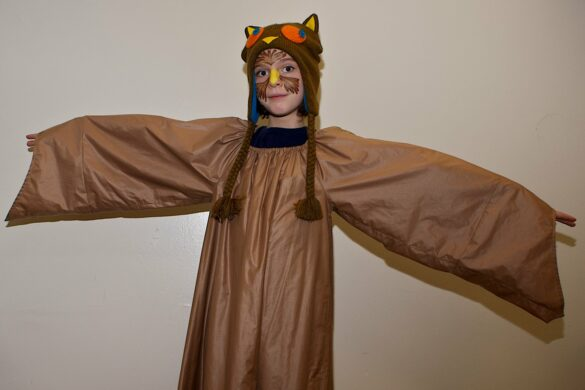 MMM in owl costume