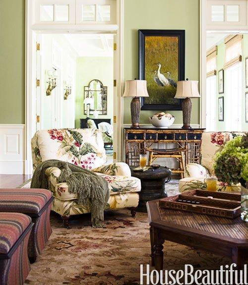 Palm Beach Living Room by Allison Paladino