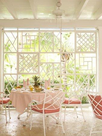 Lyford Cay Club dining terrace by Tom Scheerer