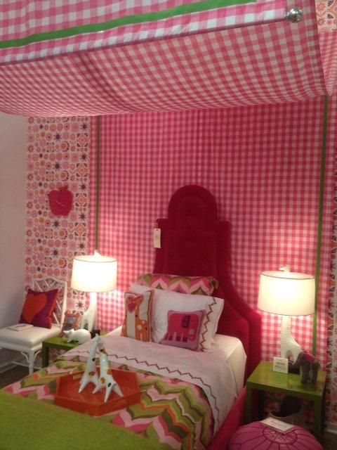Bedroom vignette at Jonathan Adler