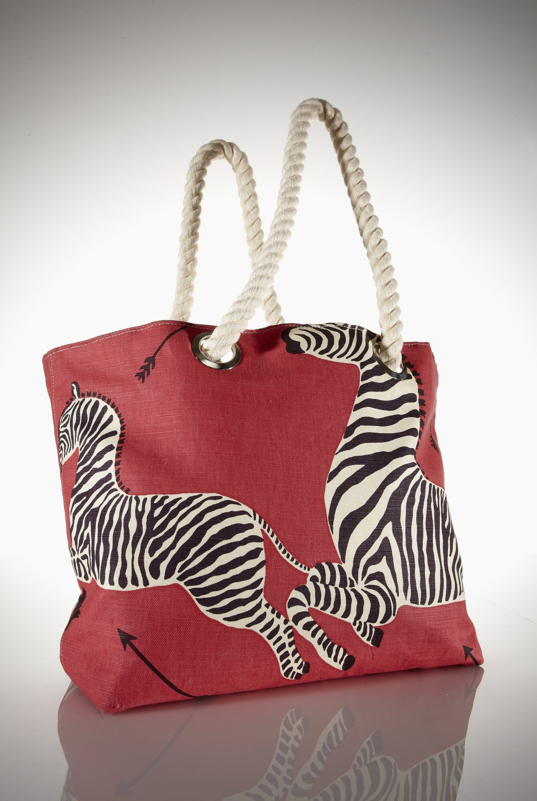 What's Black and White and Red All Over? A Scalamandre Zebra Tote Bag