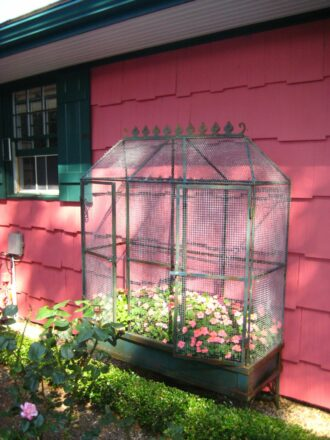Podge - Birdcage With Flowers