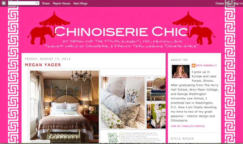 Designer Megan Yager on Chinoiserie Chic Blog