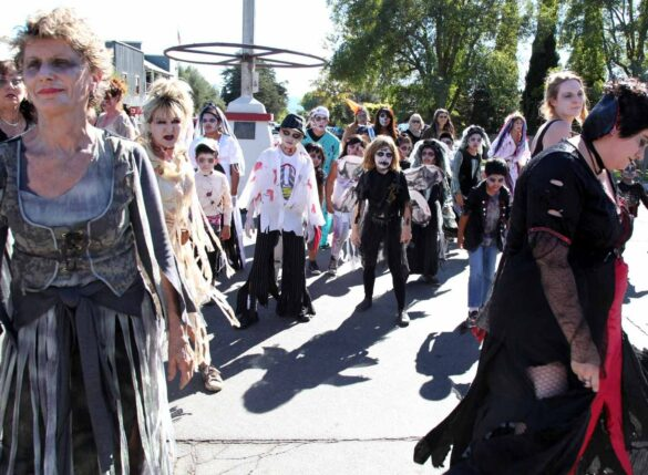 """""""Thriller"""" Parade of the Zombies in Los Olivos, Ca."""