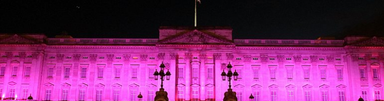 Buck House Goes Pink