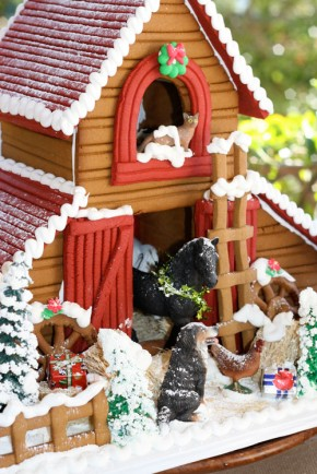 Gingerbread barn from the Solvang Bakery