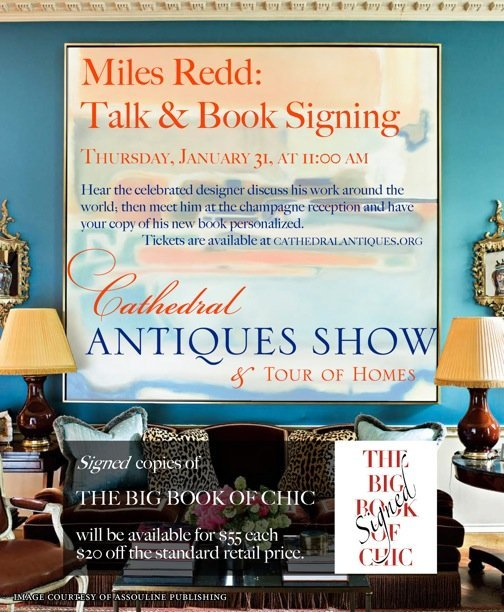 MIles Redd at Cathedral Antiques Show