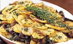 Potato and Mushroom Gratin, via Epicurious, photo by Noel