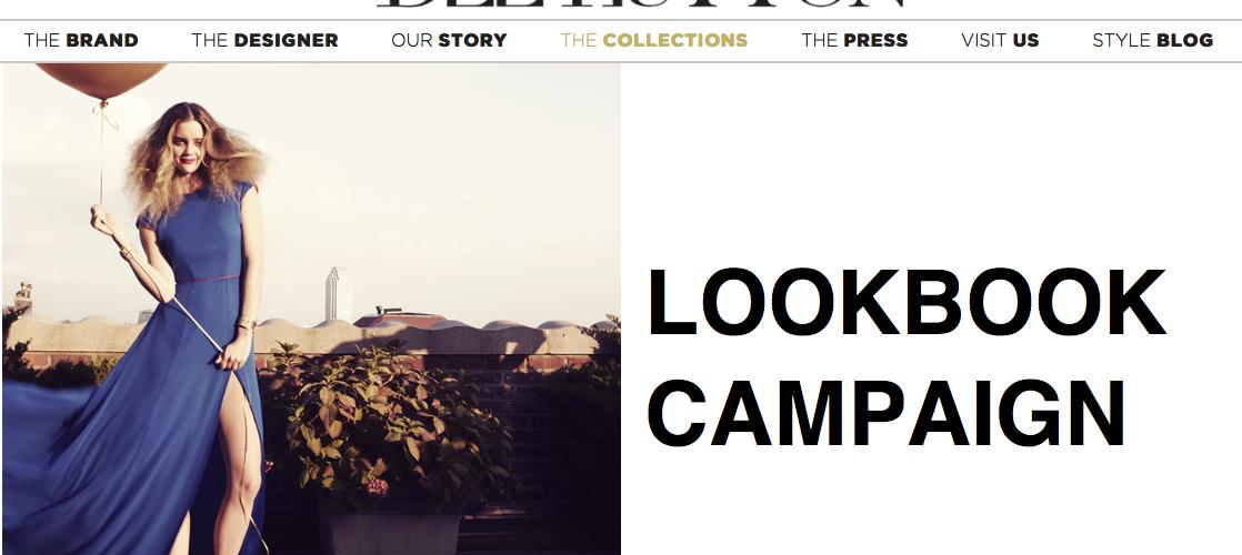 Screen Shot from Dee Hutton website