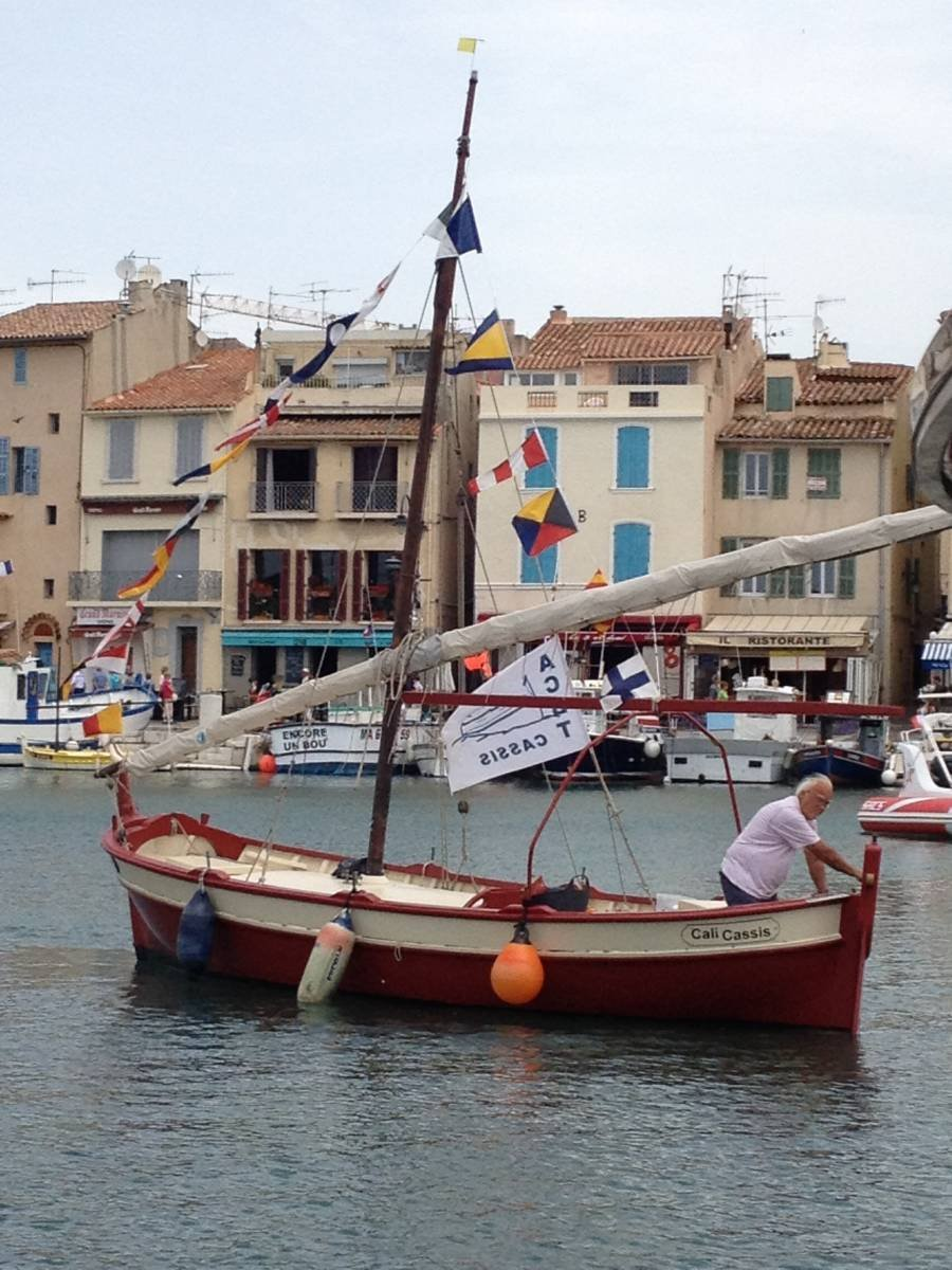 Postcard From Provence - No. 3 - Painting in Port, Beginning With Audacity