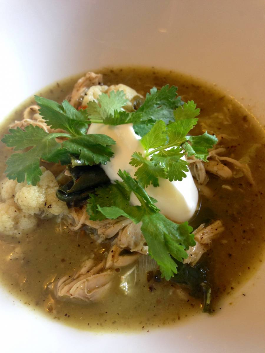 Chili Verde With Chicken and Vegetables--Great Do-Ahead for a Festive Gathering or Family at Home