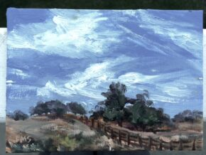 <p>6 x 8, oil on canvas panel, sold but can do a similar on your approval, $235</p>