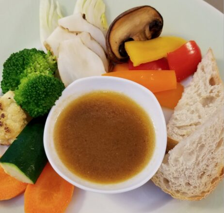 Bagna Cauda in all its olive-oily-garlicky glory. Recipe and photo by Stephanie Valentine.