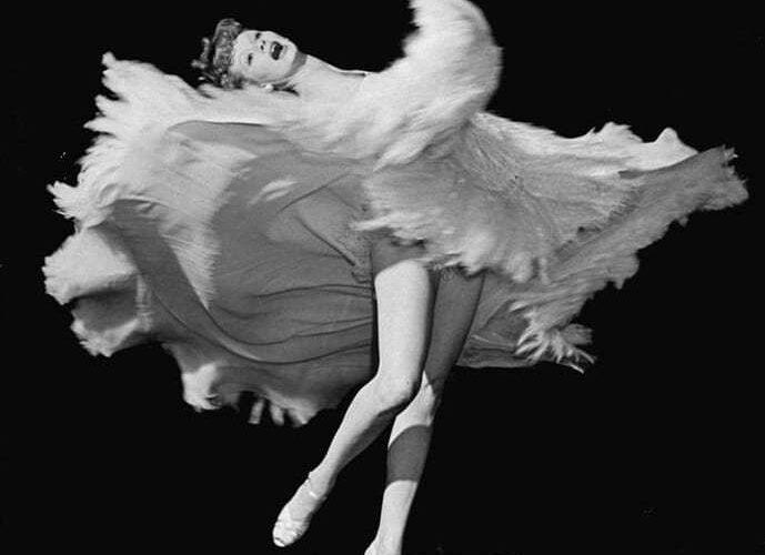 Lucille Ball kicking up her heels, via Salonniere.