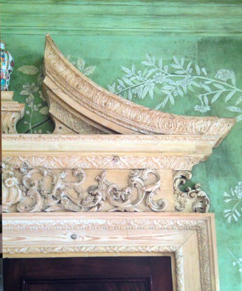 Overdoor detail - Green Room at Winfield House