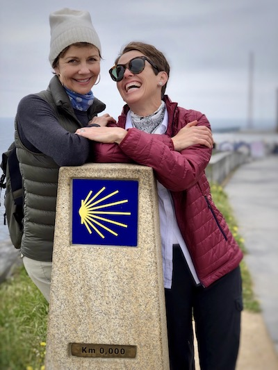 """IHollye Jacobs and me at Fisterra, """"world's end,"""" and the final stop on the Camino de Santiago.MG_0421"""