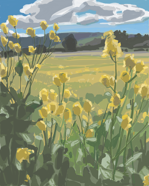 iPad painting by Anne Ward