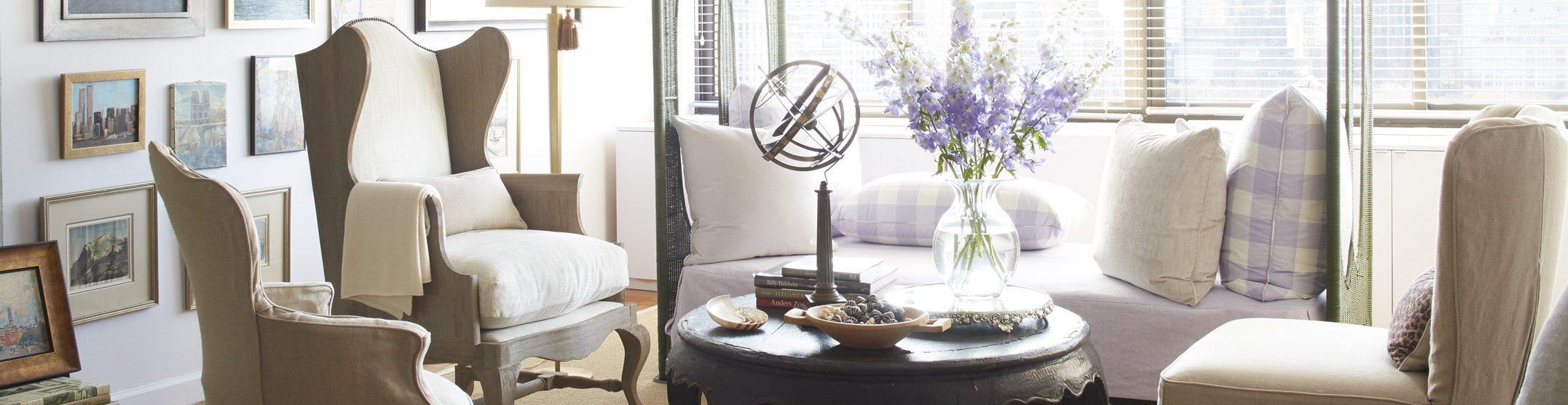 Frances Schultz living room NYC